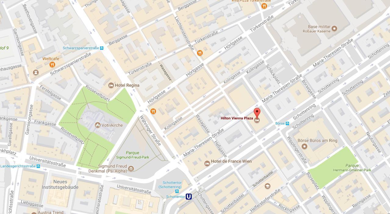 www ausztria térkép hu Hilton, Bécs térkép   Térkép hilton Vienna (Ausztria) www ausztria térkép hu